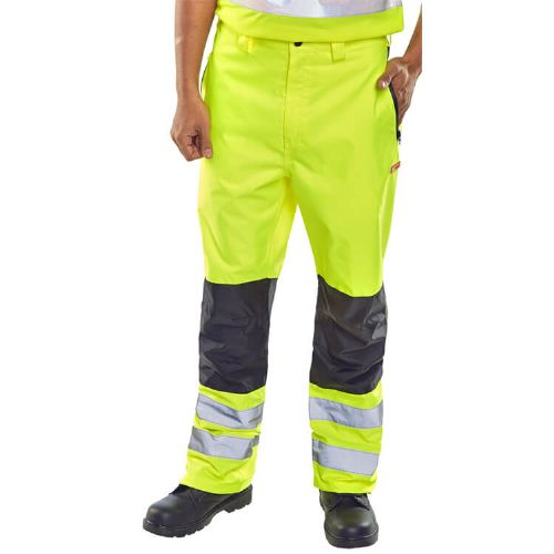 BSeen BD85 Hi Vis Yellow Waterproof Trousers